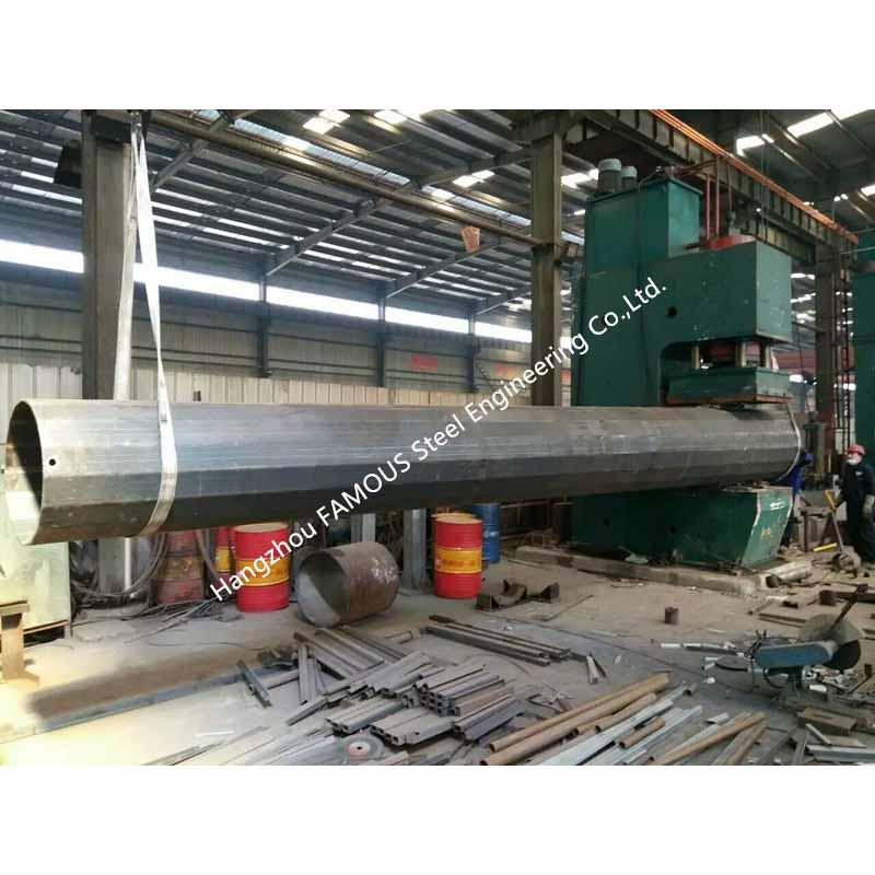 0_主图galvanized steel pole fabricator before the treatment