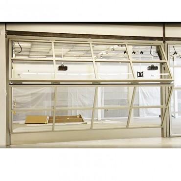 Aluminum Hydraulic Power Compact Dual Panel Horizontal lift Bi-folded Toughened Glass Commercial Door