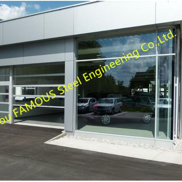 glass facade doors