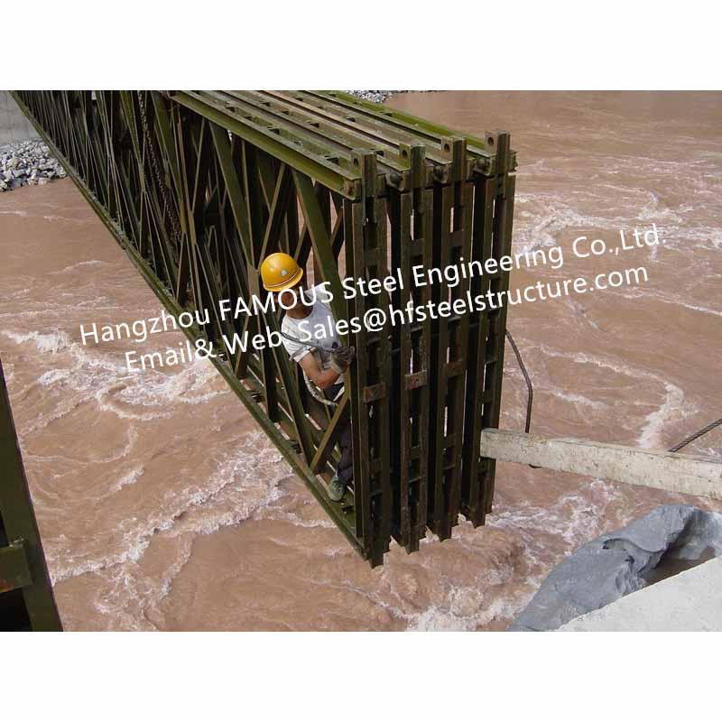 0_主图Prefabricated Steel Bailey Bridge Modular Designed Temporary Emergency Mabey Panel Portable Highway Bridging Delta Truss Model  1