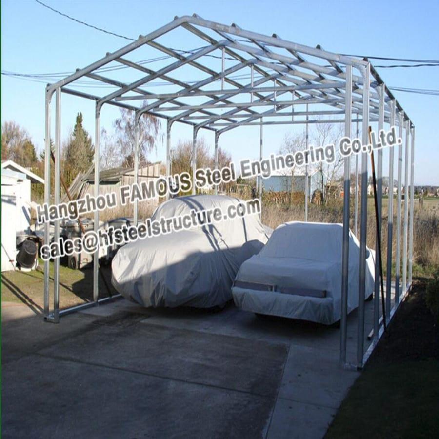 主图steel framed building for car garage shed_副本