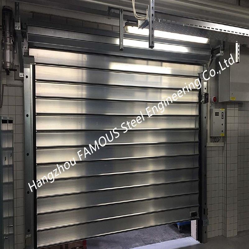 Aluminum Extrusion Profiles Fire Rated Roller Door Fireproofing Lift Door With Electric Openers
