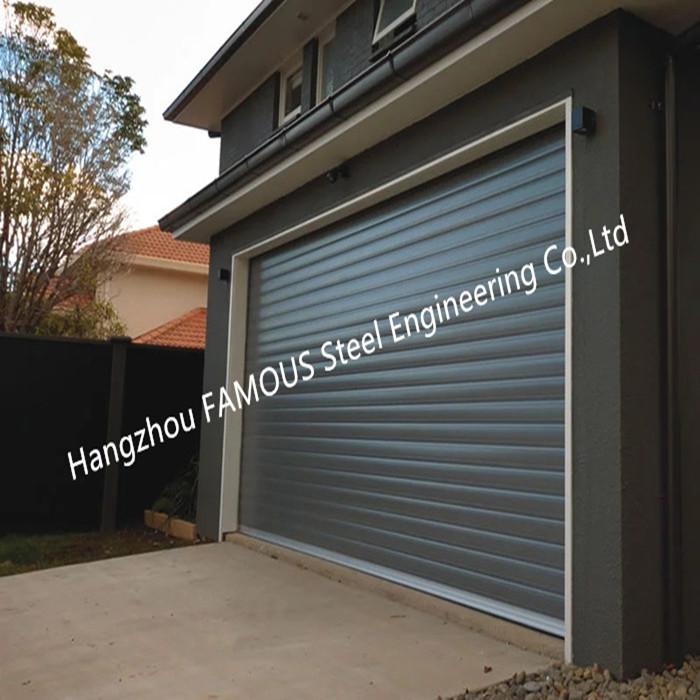 Full Height Motorized Rolling Shutter Garage Door Steel Lifting Door For Private Parking (15)_副本_副本