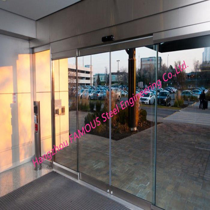 Fully Glazed Overhead Sensor Doors Glass Facade Opening Sliding Doors Automatic_副本