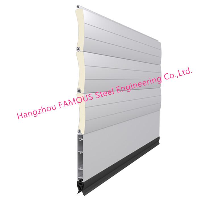 Lighter Aluminum Roll Doors Overhead Metal Doors Low Noise Heat Insulation Type (3)