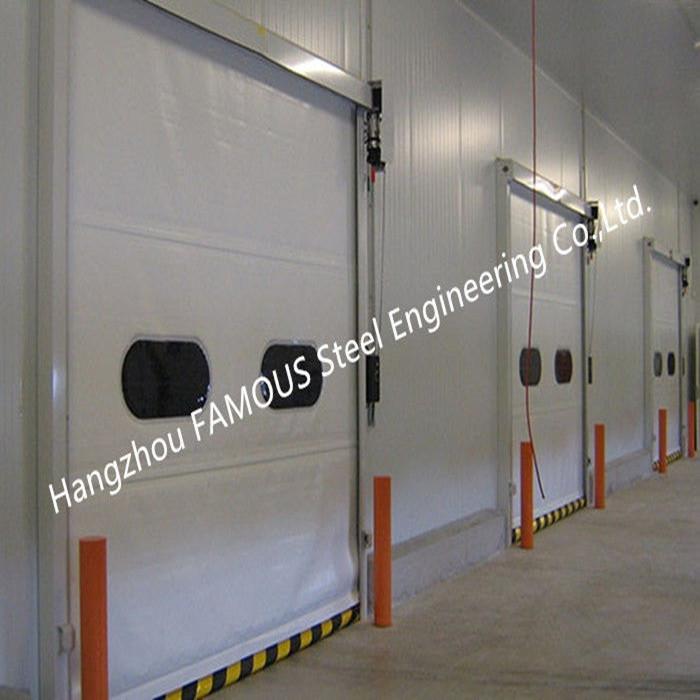 PVC Fabric High Speed Lifting Doors With Radar Sensors Vertical Rising Door With CE Certification (2)