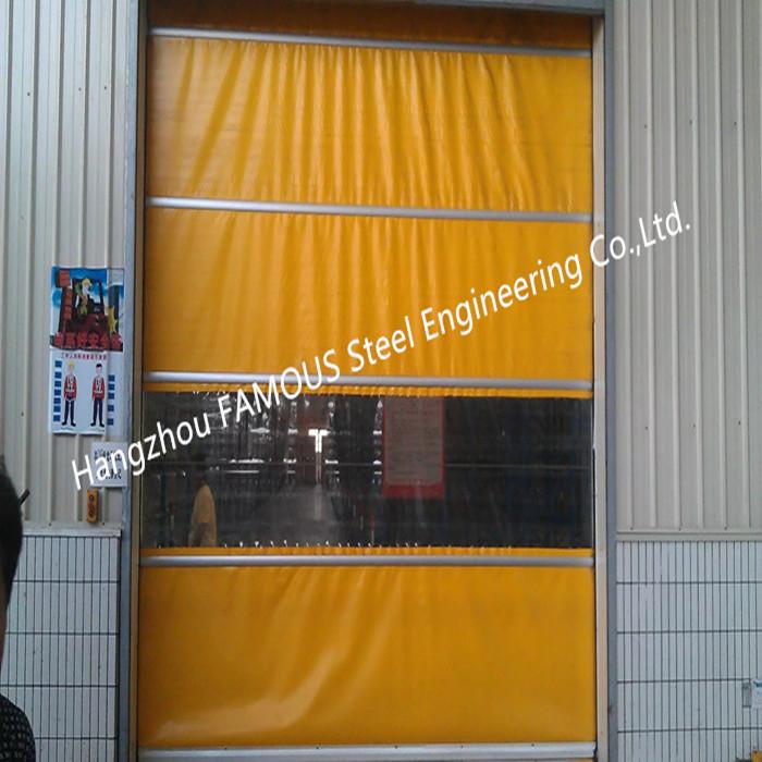 PVC High Speed Fabric Rolling Doors Hard Metal Frame Quick Response Doors Solution_副本_副本