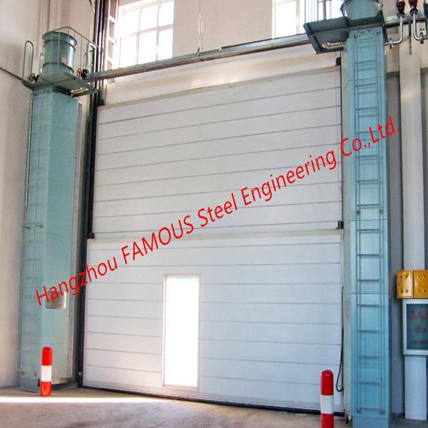 Segmental Overhead Steel Doors Vertical Lifting Counterweight Sectional Industrial Doors_副本_副本