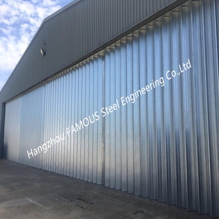 Stable Triangular Seal Vertical Hinged Door Sectional Leaves Folding Sliding Hangar Doors_副本_副本