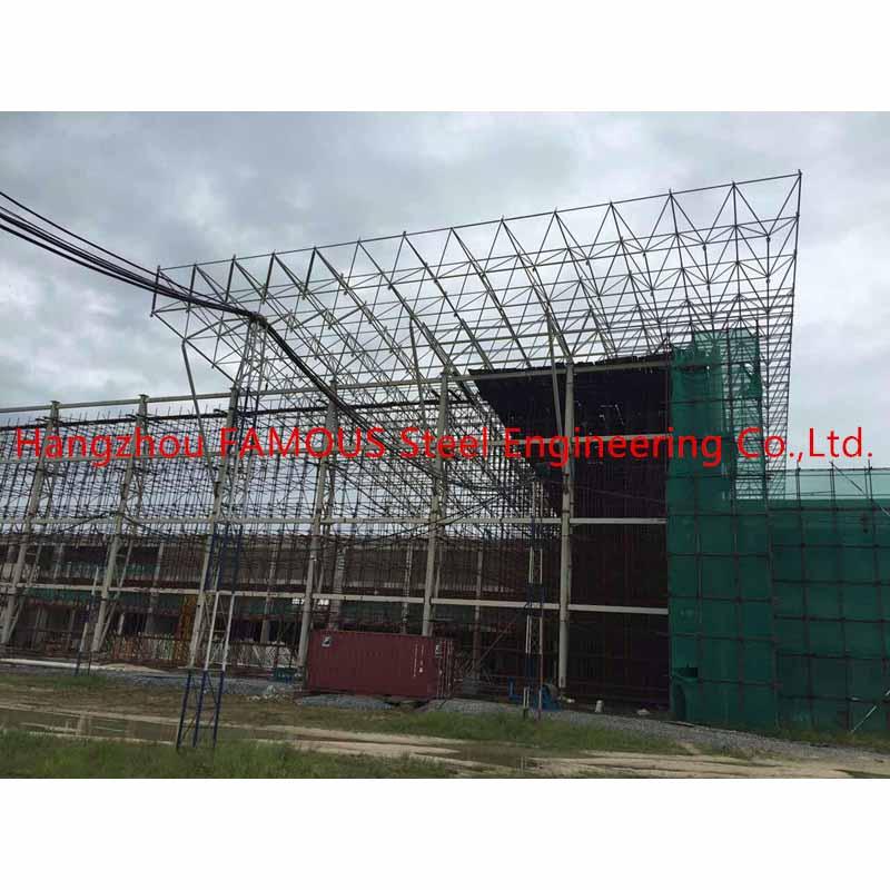 0_主图Nigeria steel structure space framing roof project